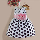 US Baby Kids Flower Girls Dress Party Wedding Bridesmaid Gown Formal Dresses