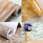 3D Marble Self Adhesive Wallpaper Removable Wall Paper Kitchen Cupboard Cover