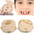 Kids Boy&Girl Tooth Box Wood Storage Organizer Baby Save Milk Teeth Collecting