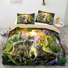 Wolf Family Bedding Set Animal Happiness Duvet Cover Pillow Case Bed All Sizes image