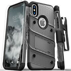 Zizo Bolt Series Military Grade Tough Case with Glass for Apple iPhone XS Max