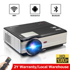 CAIWEI Android 6.0 Bluetooth Home Theater Projector HDMI Kodi WLAN USB Movie App