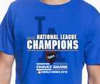 Los Angeles Dodgers 2018 National League Champs Men's Graphic T Shirt The Ravine on Ebay