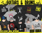 GUITAR Music Organic T-Shirt Mens MUSICAL INSTRUMENT Bass Electric Acoustic Drum