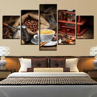 Coffee Latte Bag Of Beans Poster 5 Panel Canvas Print Wall Art Home Decor Framed