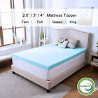 2.5/3/4 Inch Memory Foam Mattress Topper Lavender Gel Dot Queen King Twin Full  image