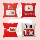 """16"""" You Tube Red + White YouTube Waist Soft Cushion Pillow Case Cover Home Decor"""