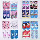 Внешний вид - 1 Pair Unisex Unicorn Socks Cotton 3D Printed Animal Low Ankle Sock Xmas Gift