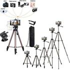 Portable Camera Tripod Stand Holder W/ Remote Phone Holder Mount Stand Universal