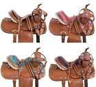 Cute Cowgirl Barrel Racing Western Leather Pony Kids Youth Saddle Tack 10 12 13