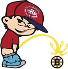 Montreal Canadiens Piss On Boston Bruins Vinyl Decal CHOOSE SIZES $15.49 USD on eBay
