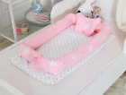 New Born Baby Portable Bassinet Nursery Foldable Cradle With Bumper Cot Mattress