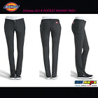 NEW DICKIES GIRLS BLACK HH874SK JUNIOR HIGH RISE SKINNY LEG TAPERED PANTS NWT
