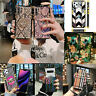 For Samsung Note 9 8 S10P s8 s9+ 3D Blu-Ray rose flower SQUARE Box Glitter Cases