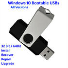 Windows 10 Bootable USB - All Versions 32/64 Install Repair Recover Upgrade