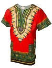 Red African Unisex Dashiki Shirt  DP3975 Small to 7XL Plus Size