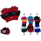 Boy Girl Kid ABC Assorted Winter Magic Gloves Warm Knitted Lots 1-6 years old
