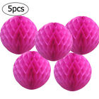 5 Pack Hanging Honeycomb Balls Paper Lanterns Pompoms Wedding Party Decorations