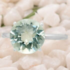 Natural Prasiolite (Green Amethyst) 925 Silver Ring Jewelry Size 6-9 DGR6005_B