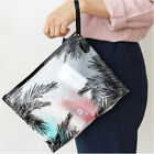 women clear cosmetic pvc toiletry bags travel organizer necessary beauty case