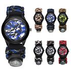 Compass Men's Watch Sport Outdoor Waterproof Nylon Band Army Military Camouflage image