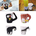 1EEE 3D Hand Painted Animals Handle Ceramic Coffee Tea Mug Cup Cuppa Gift Home O
