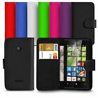 Premium Leather Wallet Case Cover For Microsoft Lumia 435 With Screen Guard