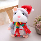 CHRISTMAS GIFTS Talking Hamster Children Plush Toys Speak Sound Record Hamster
