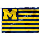 Flag Us 3X5ft Polyester Banner Michigan Wolverines Size No.4 90*150Cm