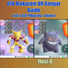 Kyпить 6IV Shiny Alakazam & Gengar Pokemon Lets Go Guide [Lets Go P/E] на еВаy.соm