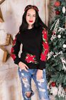 "Women's sweatshirt ""Rose garland"". Black"