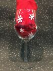 Diy Christmas Vinyl Decal Stickers Set Of 60 Snowflakes Various Sizes Wine Glass