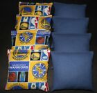 SAN FRAN GOLDEN STATE WARRIORS CORNHOLE BEAN BAGS NBA 8 ACA  Handmade Bags! on eBay