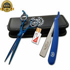 2pc Stainless Steel Hair Cuting+Thinning Scissors Barber Shears Hairdressing Set $31.49 USD on eBay