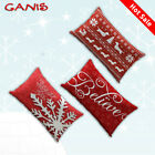 Cotton Linen Christmas Pillow Case Santa Sofa Car Throw Cushion Cover Home Decor image