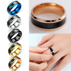Intelligent Thermometer temperature measuring ring Stainles steel Couple wedding