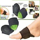 4x Heel Foot Pain Relief Plantar Fasciitis Insole Pads Arch Support Shoes Insert