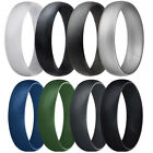 4x Camo Durable Silicone Wedding Engagement Men Rings Band Stackable 13 14 15 16