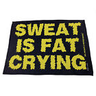 Gym Sweat Microfiber Sports Towel Bodybuilding Funny - Is Fat Crying