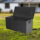 Panana Garden Storage Plastic Chest Waterproof Cushion Shed Box Wheels Outdoor
