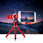 Universal 18X Zoom Mobile Phone Telephoto Camera Lens With Mini Tripod Kit K9Y6