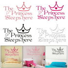 1pc Princess Sleeps Here Bedroom Wall Stickers Living Room Children Decoration