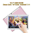 "Genuine HD 10.1"" Android 7 4G+64G Deca-Core Tablet Unlocked Dual 3G SIM Phablet"