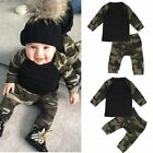 USA Newborn Toddler Infant Kids Baby Boy Clothes T-shirt Tops+Pants Outfits Set