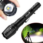 90000LM T6 LED Zoom Rechargeable High Power Torch Flashlight Lamp Light Charger