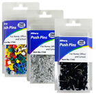 "Внешний вид - 150 Pcs Push Pin Thumb Tack Clear Color 3/8"" Drawing Cork Board Office Pushpin"