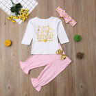 Baby Girl First Birthday Outfits Clothes T shirt Top Blouse Pants 3PCS Set 0-24M
