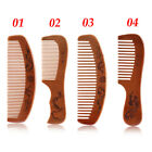 2019 Handcrafted Natural  Peach Wood Comb No Static Pocket Beard Mustache Comb
