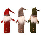 Christmas Santa Snowman Wine Bottle Cover Table Party Decoration Xmas For Gift