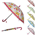 "37"" Kids Boys Girls Cute Print Sun Rain Anti-UV Windproof Umbrella With Whistle"